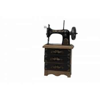 Machine à coudre décorative 3 tiroirs avec boîte à aiguilles Antic Line -SEB12837