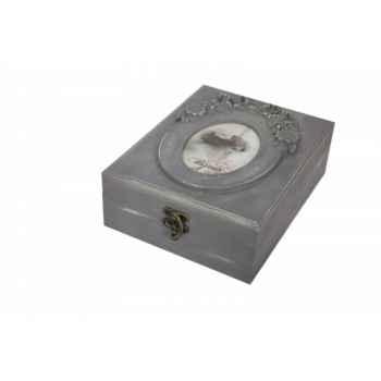 Boîte à bijoux rectangle Antic Line -SEB12904
