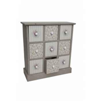 Mini commode 9 tiroirs Antic Line -SEB13032