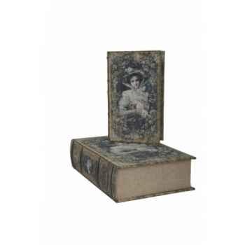 Set 2 boites faux livres Antic Line -SEB12743