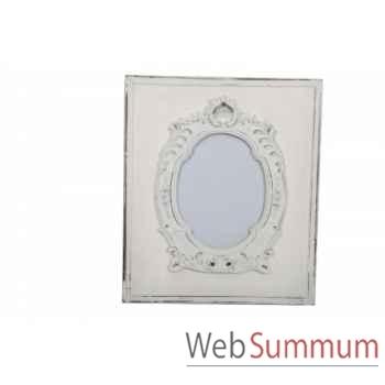 Cadre baroque blanc antique Antic Line -SEB12977