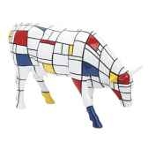 vache cow parade moondriaan new york 2000 46537