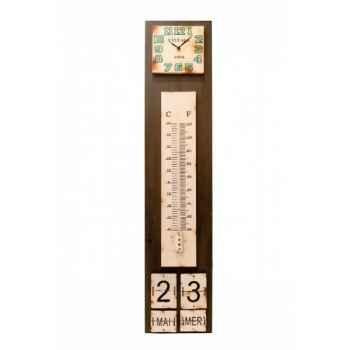 Thermomètre-pendule-calendrier Antic Line -SEB11713