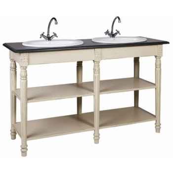 Meuble salle de bain double sans vasque et sans robinet Antic Line -CD427