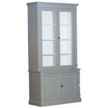 Haut de bibliothèque directoire 2 portes vitrées - t75 Antic Line -2H