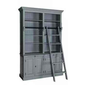 Meuble 4 portes + 2 tiroirs avec tirettes Antic Line -CD562B
