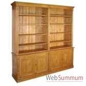 bibliotheque directoire ouverte 4 portes antic line d158