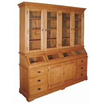 Buffet apothicaire 2 portes + 6 tiroirs (poignées coquilles) Antic Line -M3102