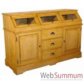 Buffet apothicaire 2 portes + 3 tiroirs (poignées coquilles) Antic Line -M122