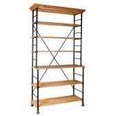 etagere fer et bois cire antique antic line cd387