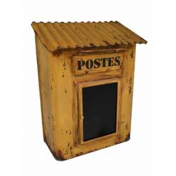 "Boîte aux lettres jaune \""poste\"" Antic Line -SEB13798"
