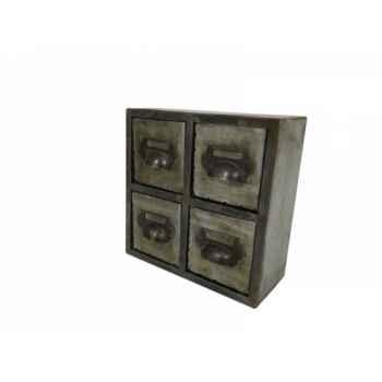 Mini commode 4 tiroirs Antic Line -SEB13745