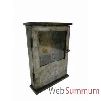 Boîte à clés en zing Antic Line -SEB13742
