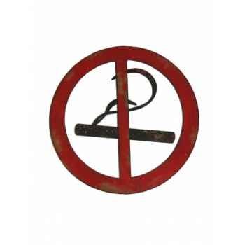 Panneau interdit de fumer Antic Line -SEB13455