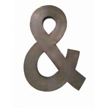 Lettre & - hauteur 60 cms Antic Line -SEB13316