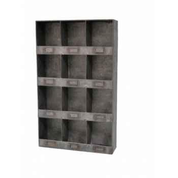 Etagère zinc à 12 casiers Antic Line -SEB13443