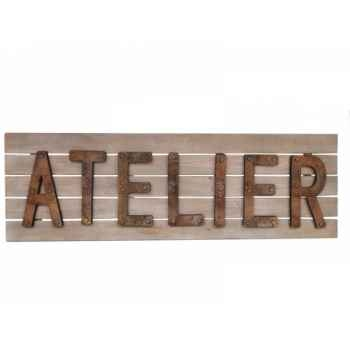 "Plaque ""atelier\"" Antic Line -SEB13456"