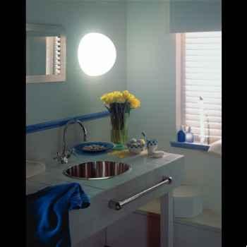 Lampe demi-lune blanche socle à visser Moonlight -hmagr550025