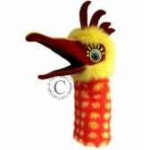 oiseau chuckle jaune et orange the puppet company pc006301