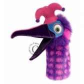 oiseau dazzle rose et violet the puppet company pc006302
