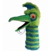 oiseau guzzle vert the puppet company pc006304