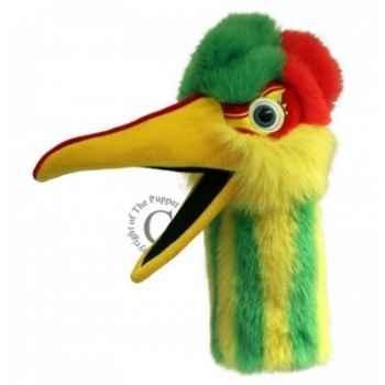 Oiseau obble vert jaune the puppet company -pc006307