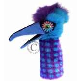 oiseau pickle bleu violet the puppet company pc006308