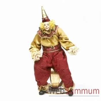 Poupée clown sur une boule 46cm -Z 20914