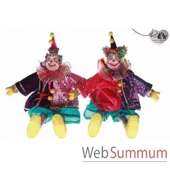 Lot de 2 sac clown 32cm -B 31488