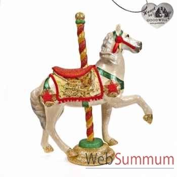 Caroussel cheval rouge 76cm -B 30061