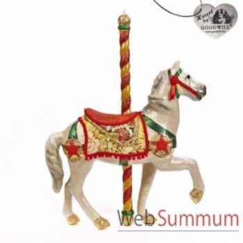 Caroussel cheval rouge 76cm -B 30060
