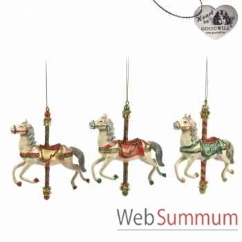 Lot de 3 caroussel cheval 16cm -B 30085