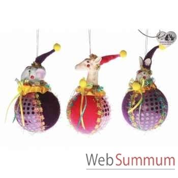Boule de noël animaux de cirque 17cm -B 31722