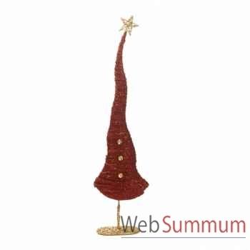 Arbre de noël avec étoile rouge 91,5cm -M 17681
