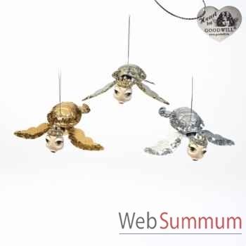 Lot de 3 tortue décorative 18cm -B 30652