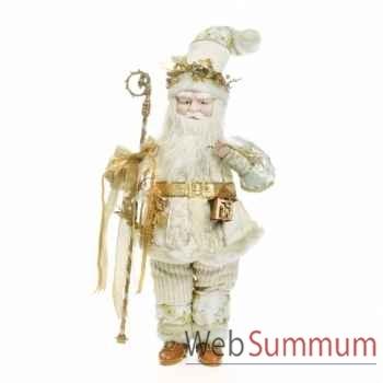 Poupée père noël avec lanterne 61cm -C 12462