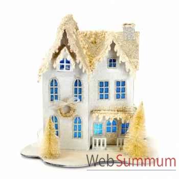 Décoration de noël maison à 2 étages 25cm -TR 10362