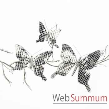 Lot de 3 papillion avec clip 25cm -J 68176