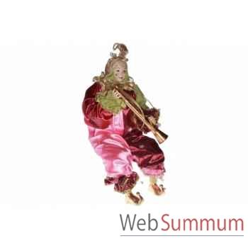 Jester statue avec flute 63,5cm -Z 21406