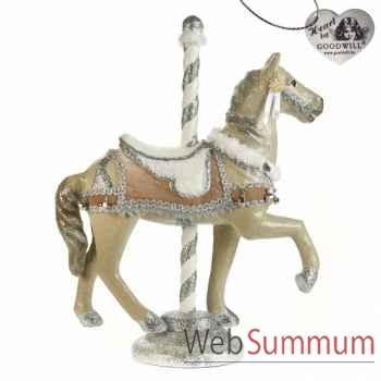 Caroussel cheval 76cm -B 30305