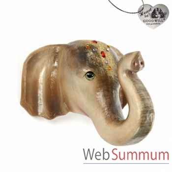 Tête d\'éléphant 37cm -B 30577