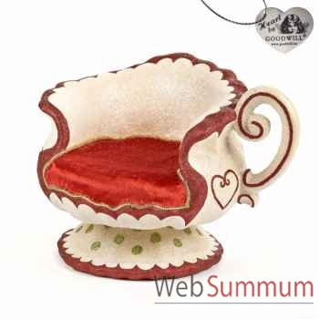 Tea time chaise statuette 43,2cm -B 30103