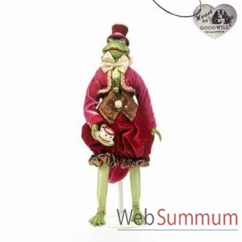 Tea time grenouille statuette 45cm -C 12122