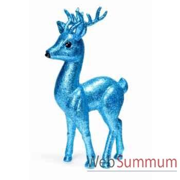 Statue cerf bleu 39,4cm -Y 31440