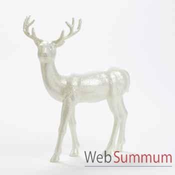 Statue cerf blanc 45,5cm -A 59576