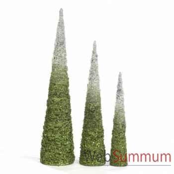 Lot de 3 arbres en cone 152cm -M 17600