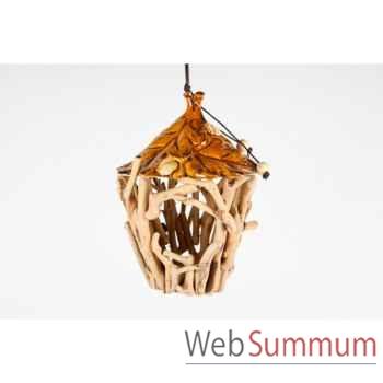 Maison à oiseaux en céramique 26cm -MC 13118