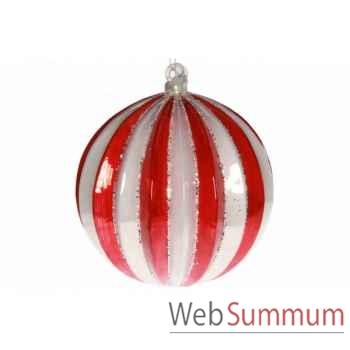 Boule de noël rouge 15cm -AL 25342