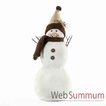Statue bonhomme de neige 44cm -MC 34295