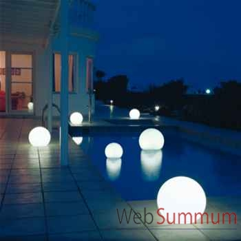Lampe demi-lune blanche ronde sur batterie Moonlight -bmfl550140